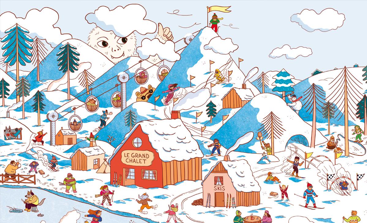 Illustration de vacance au ski